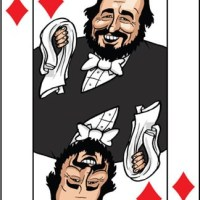 Card-i-cature a week... Week 36 - Luciano Pavarotti (the King of Diamonds)