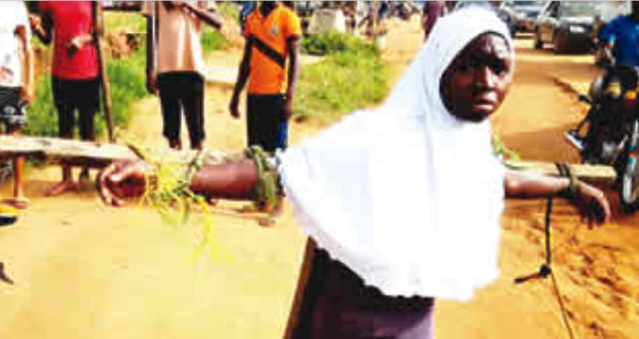 School proprietor and principal tie students to crosses and flog them for coming late to school (photos)