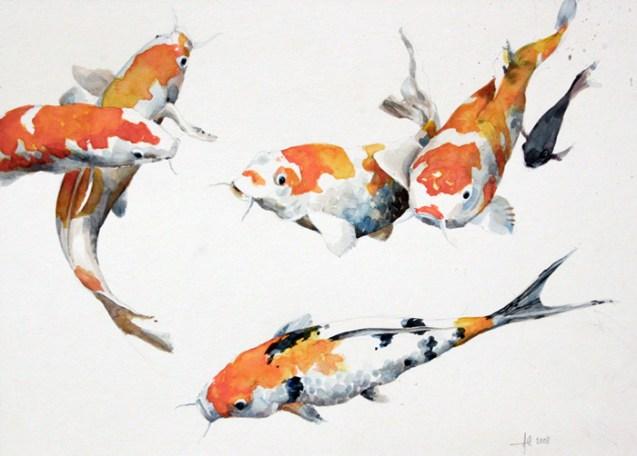 Koi Fish Iphone Wallpaper Koi Carp Alex Egan Artist