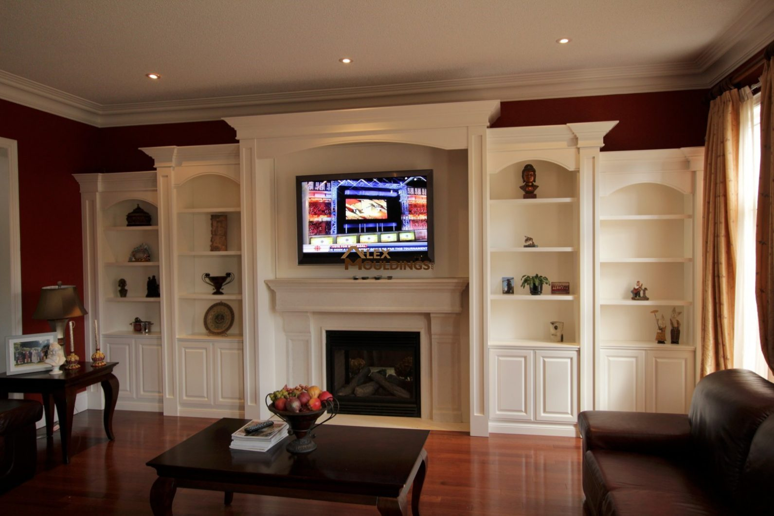 Wall Mounted Entertainment Unit Wall Units Custom Millwork Wainscot Paneling