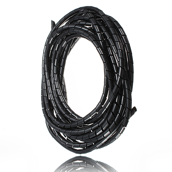 5M Spiral Wire Wrap Tube Manage Cord for PC Computer Home Cable 4
