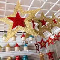 Christmas Ornaments Shiny Star Xmas Tree Ceiling Wall ...