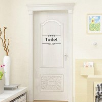 Removable PVC Bathroom Toilet Wall Sticker Door Decals DIY ...