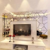 18cm 7Pcs DIY Acrylic Modern Mirror Decal Art Mural Wall