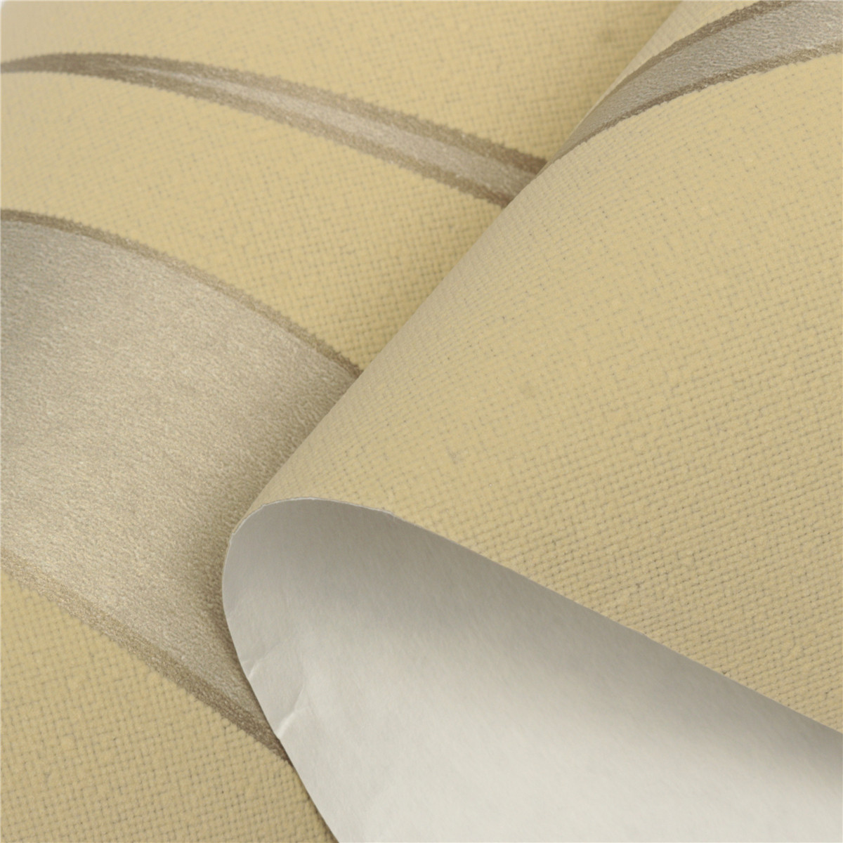 3d Wave Flocking Wallpaper 10m 3d Crescent Wave Stripes Embossed Non Woven Flocking