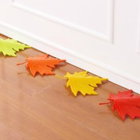 Creative Autumn Maple Leaf Safety Door Stopper Stop Home ...
