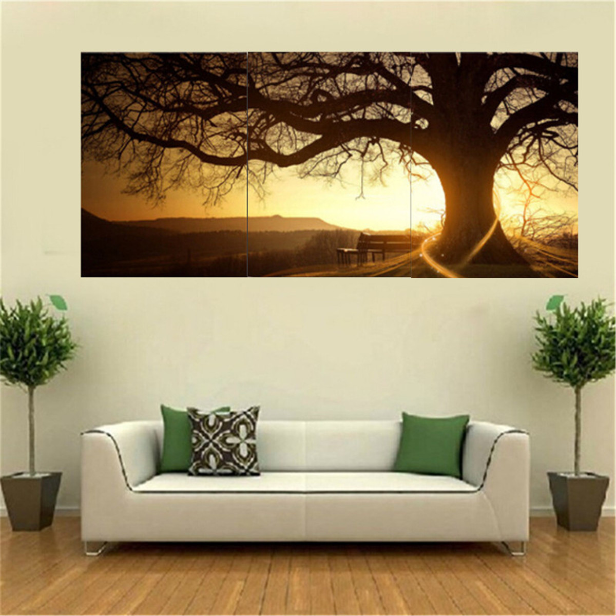 Home Decor Paintings 3pcs Sunset Combination Painting Printed On Canvas