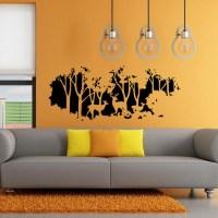 58cmx126cm Forest Fawn Deer Wall Sticker Wall Decal Home ...