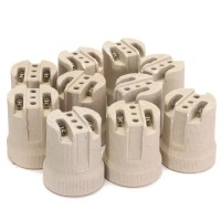 10x E27 Porcelain Ceramic Lampholder Socket For Vivarium ...