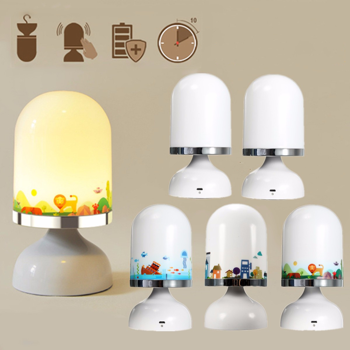 Rechargeable Night Lamp Portable Usb Rechargeable Led Night Light Hanging Stand
