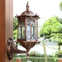 Outdoor Bronze Antique Exterior Wall Light Fixture ...
