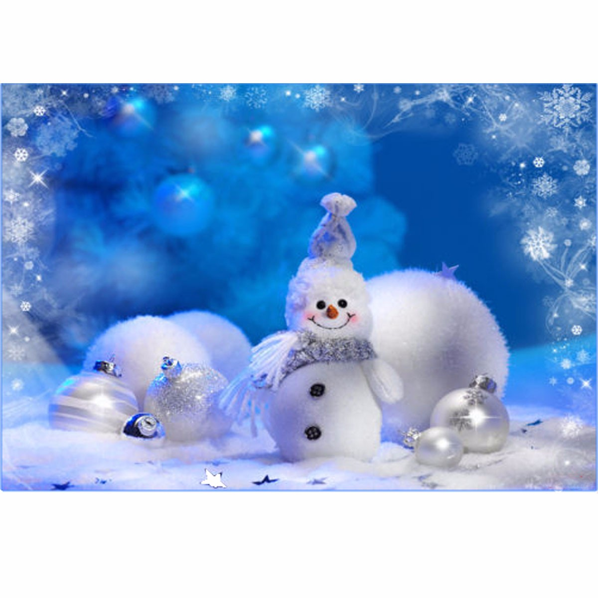 3d Vinyl Wallpaper Snow Vinyl Fabric Christmas Snowman Studio Photography
