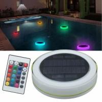 Solar Power RGB Underwater LED Garden Pond Swimming Pool ...