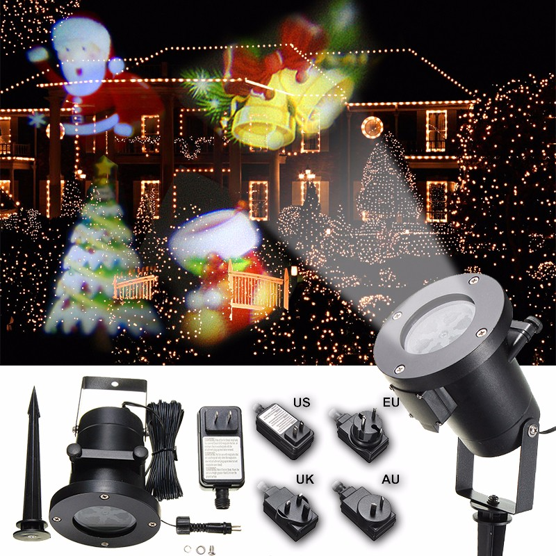 Led Lighting Effects On Health Waterproof Colorful Santa Claus Pattern Led Christmas
