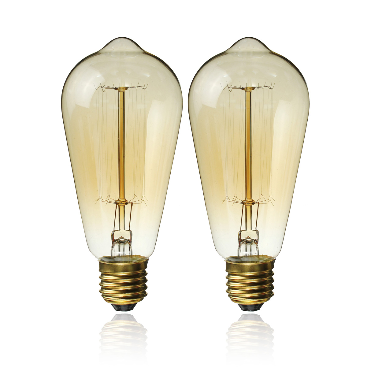 Industrial Looking Light Bulbs E27 60w Retro Vintage Industrial Style Filament Light Bulb