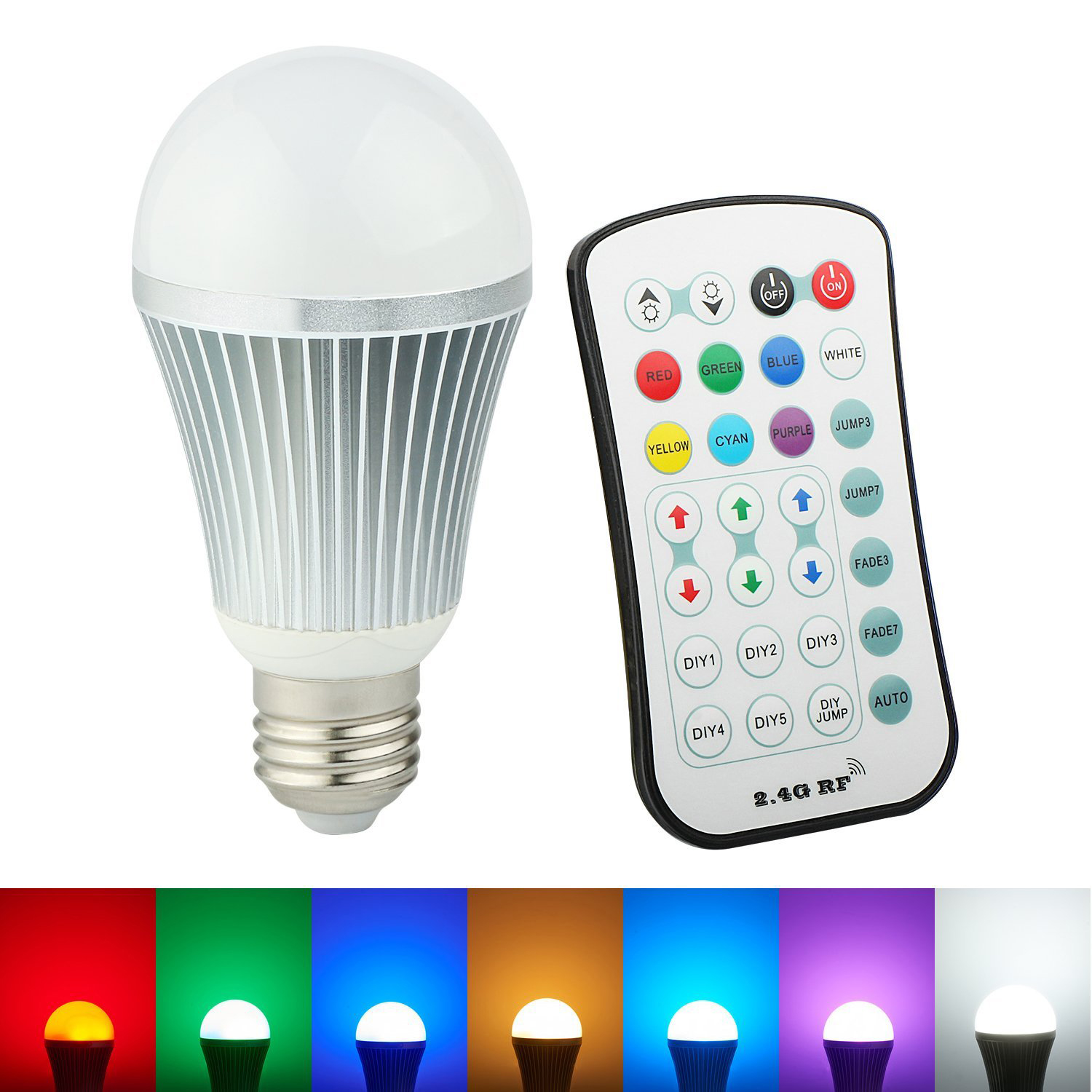 12v Bombilla Led Arilux E27 9w Color Changing Led Globe Light Bulb With 2
