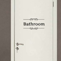 Retro Toilet Bathroom Door Wall Sticker Decor Decoration ...
