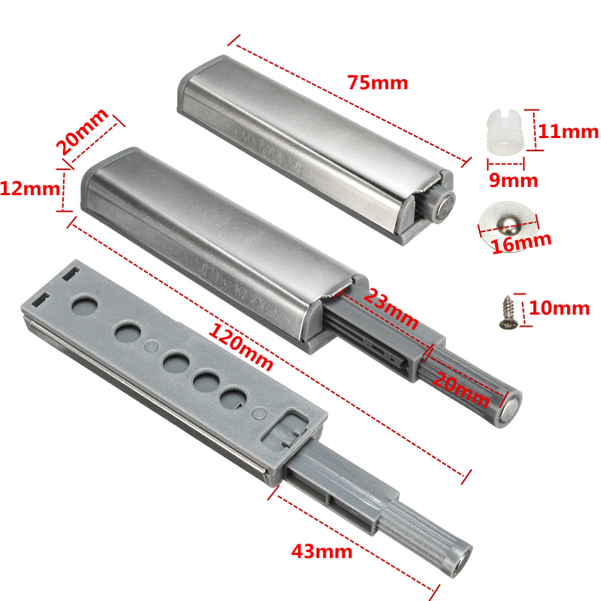 Push Catch Cabinet Push Open Catch Touch Latch Magnetic Tip Damper