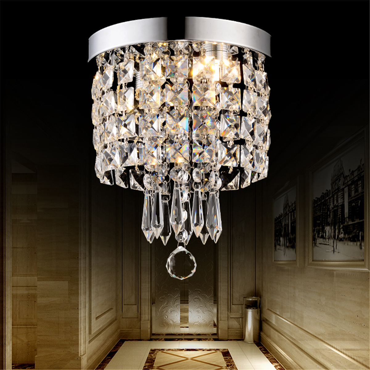 Led Chandelier Led Pendant Ceiling Lamp Elegant Crystal Ball Light Led Chandelier Light Home Decor