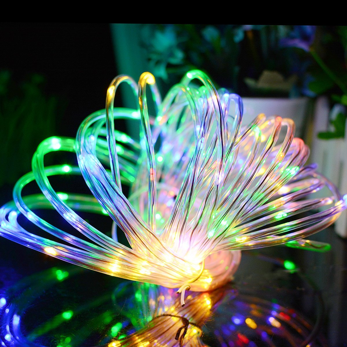 Solar Rope Lights Australia Solar Powered 120leds 8modes Waterproof Fairy Copper Wire