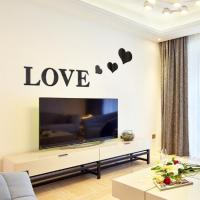 3D Multi-color Love Silver DIY Shape Mirror Wall Stickers ...