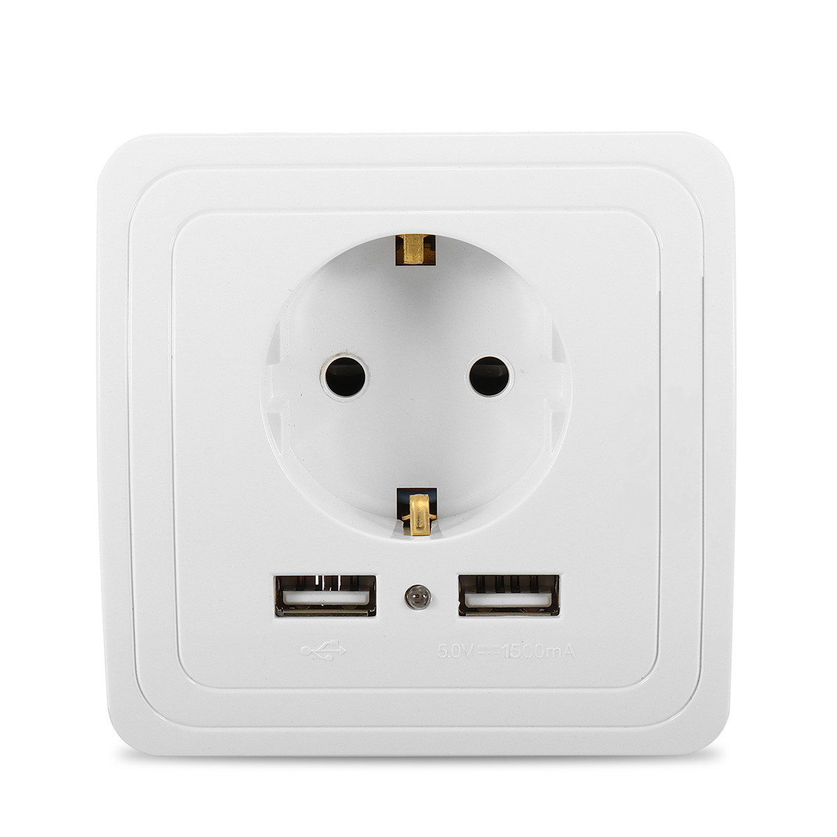 Usb Power Plug 2 1a Dual Usb Ports Wall Charger Power Adapter Socket