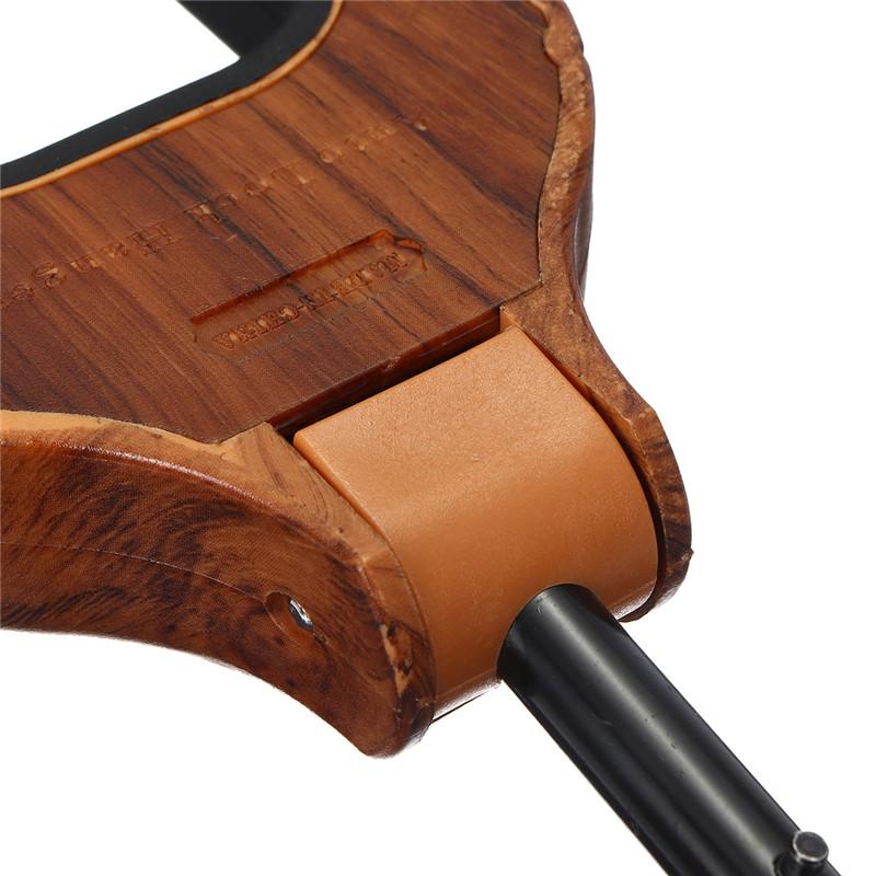 Wall Mount Hooks Stand Wooden Guitar Hanger Holder Two