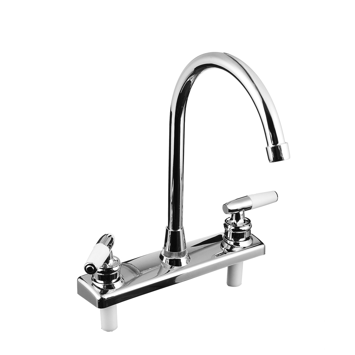 Double Dual Handle Spout Hot Cold Basin Sink Mixer Water