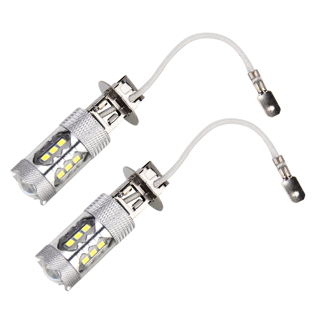 12v 5w 2 Pcs H3 Dc 12v 5w 250lm Auto Car Fog Lights With 16 Smd 2835 Led Bulbs White Light