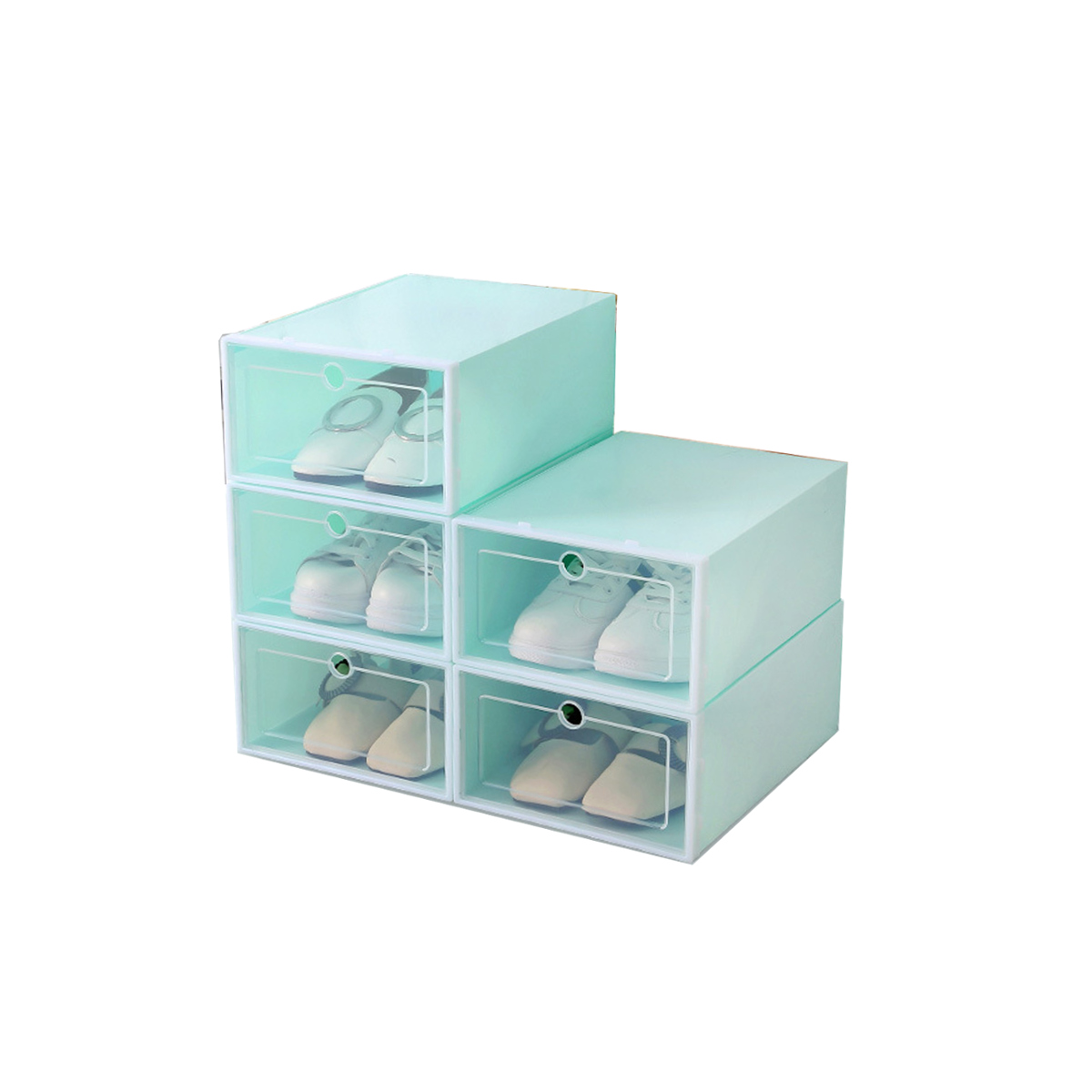 Clear Display Boxes Foldable Clear Plastic Shoe Storage Boxes Display