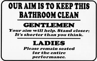 Bathroom Etiquette Signs For Office bathroom etiquette signs for office