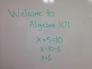 Algebra 101