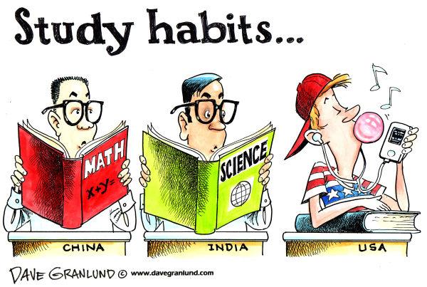 Satirical Cartoon on Education