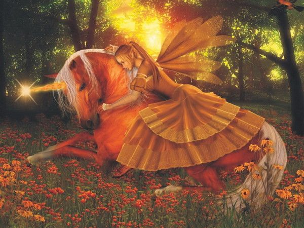 Mystical Creatures In The Fall Wallpaper Images Chevaux Licornes Ailes