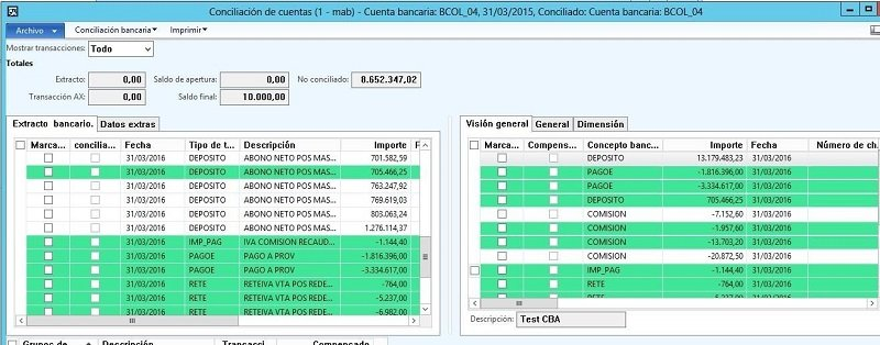 Módulo De Conciliación Bancaria Para D365 - AlfaPeople-Colombia
