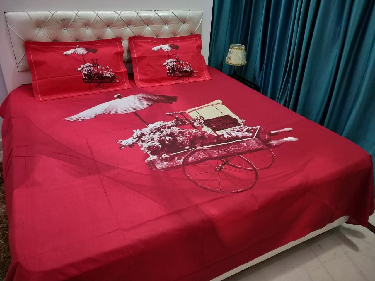 Double Bed 100 S K Mani 100 Cotton King Size Double Bed Bedsheet 4