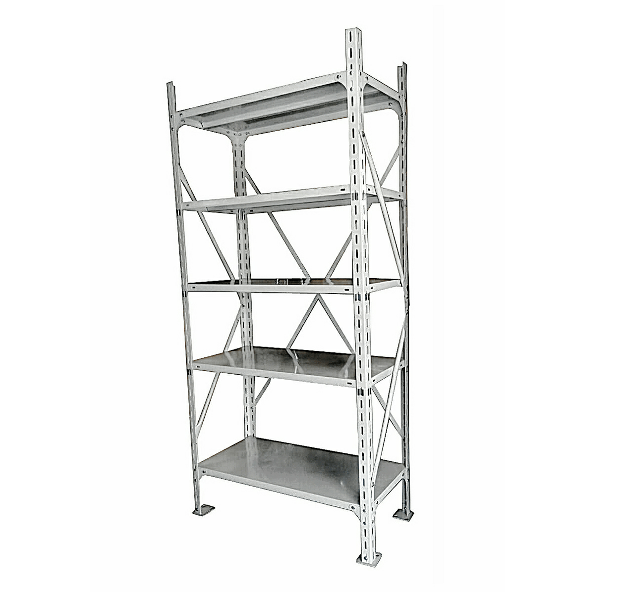 Metal Shelving Boltless Steel Shelving Rack With 5 Adjustable Shelves