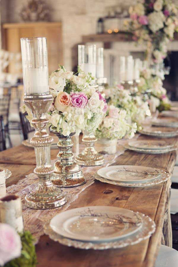 Tischdeko Spiegel Rustic Wedding Tables Are Taking Over This Year! - Rebecca