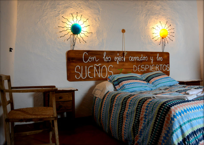 Dormitorio principal Carrihuela Azul Casa Rural