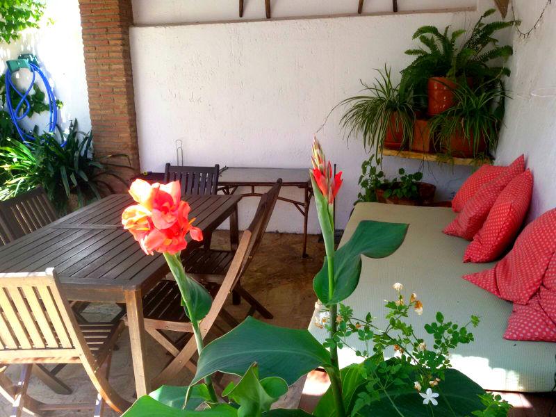 Patio compartido Carrihuela Azul Casa Rural
