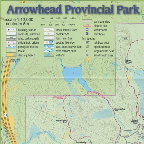 Red 1 Parking Arrowhead Adventure Map Arrowhead Algonquin Outfitters Your