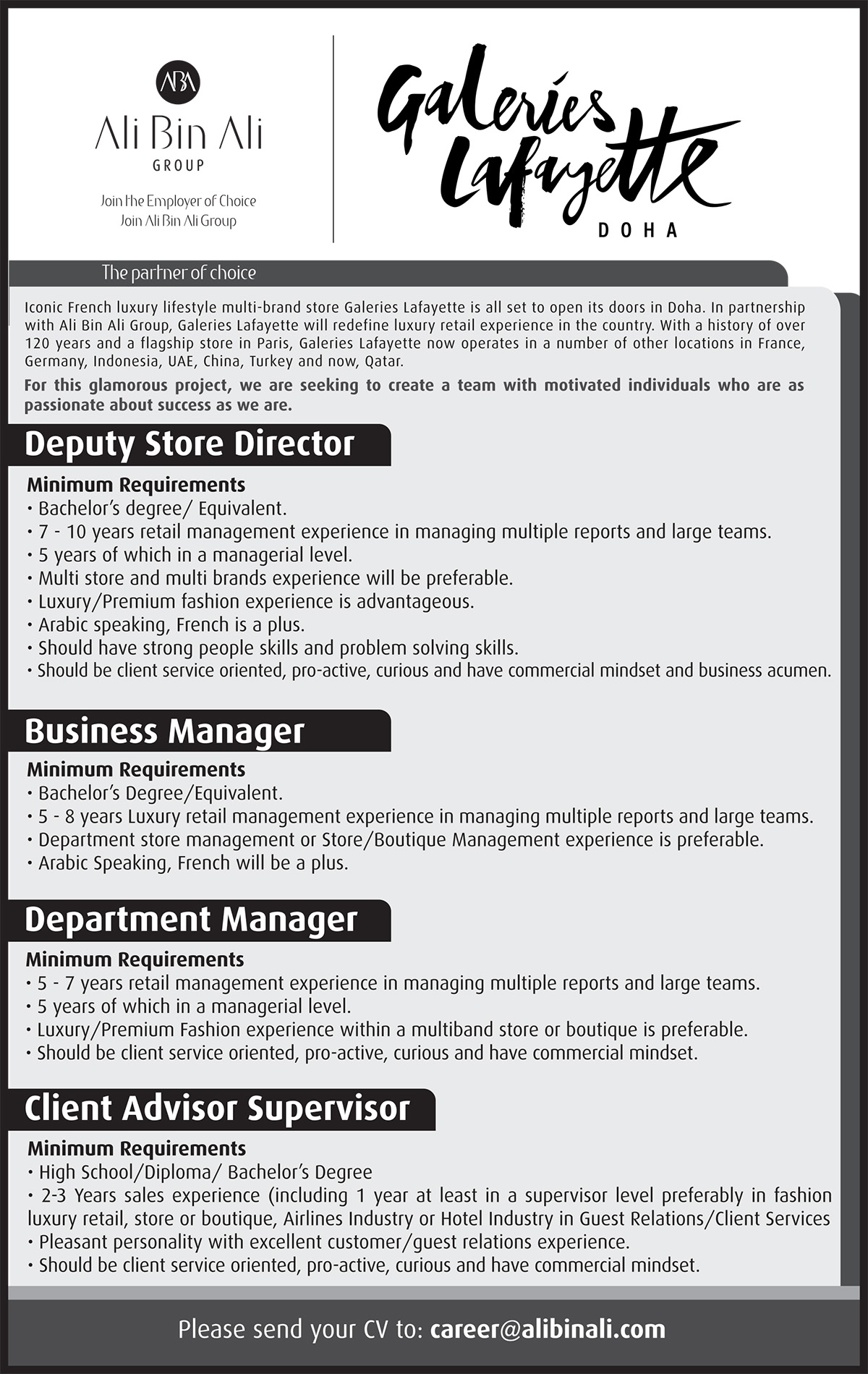 Hospitality Job Recruitment Current Opportunities