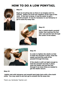 HB 14 How To Do A Low Ponytail.cwk (DR)