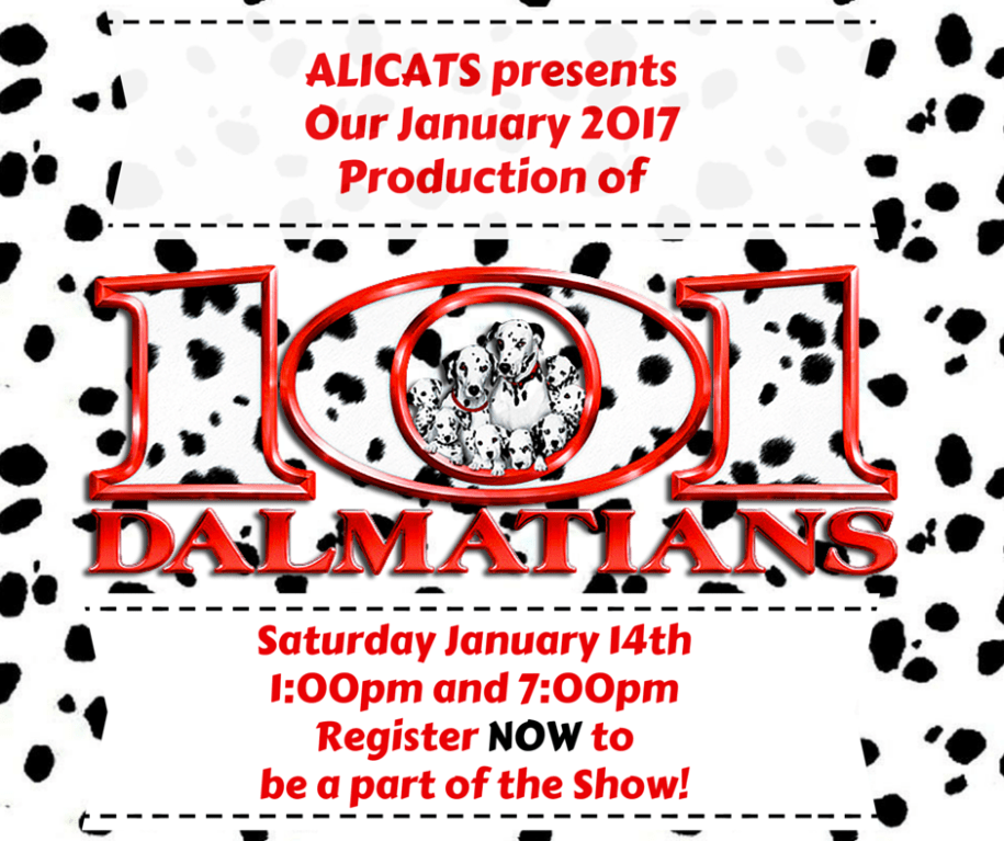 ALICATS presents Our January 2017 PRoduction of