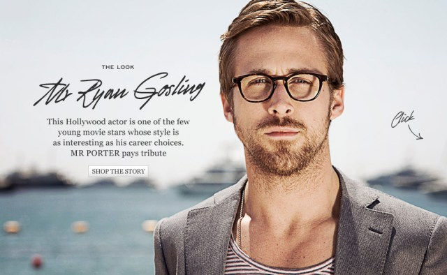 Mr Porter Ryan Gosling ezine