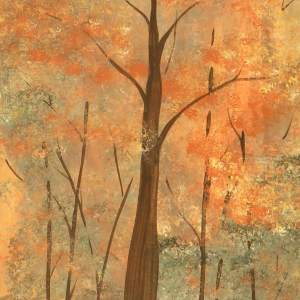 trees mixed media painting alicearlene.com