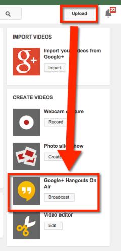 Google Hangout on Air
