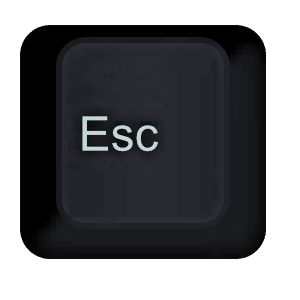 Esc key alice keeler