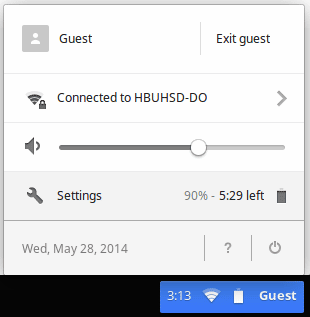 Chromebook settings