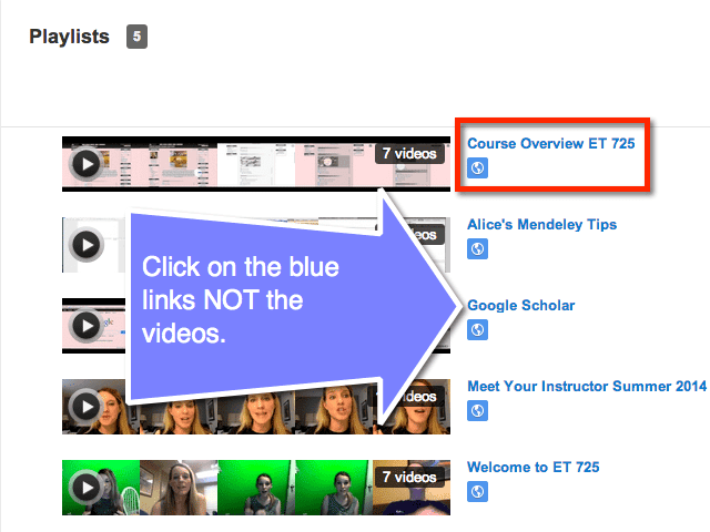 click on blue links